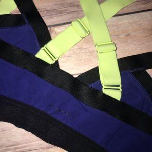 Aritzia Intimates & Sleepwear - Aritzia Community Rasa Sports Bra Blue Black Neon
